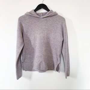 "Old Navy Mauve Knit Hoodie ""Mohair"" Sweater"